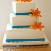 Orange Spring Tiger Lily Wedding Cake