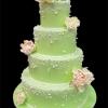 Peony Pearl Wedding Cake
