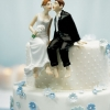 Cake Topper Friday:  Sitting Bride and Groom Cake Topper