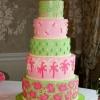 Lilly Pulitzer Inspired Wedding Cake