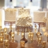 Vintage Elegance…White Cakes on Gold Cake Stands