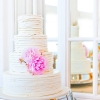 Touch of Pink Wedding Cake