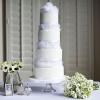 White Feathers Wedding Cake