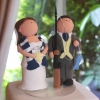 Cake Topper Friday:  Soccer-Loving Bride and Fishing-Loving Groom Custom Cake Toppers