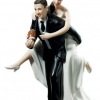 Cake Topper Friday:  Football Toting Couple