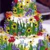Summer In Bloom Wedding Cake