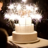 Sparklers Wedding Cake