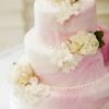 Pink Marbleized Wedding Cake