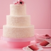 Ombre Red Velvet Wedding Cake
