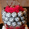 Black and Red Wedding Cake Pop Cake
