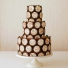 Cookie-Trimmed Chocolate Wedding Cake