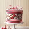 Double Height Flowered Red Velvet Cake