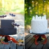 Halloween Wedding and Groom Cakes
