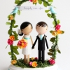 Caketopper Friday:  Sweet Bride and Groom Under an Arch
