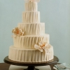 Cream Colored Rustic Buttercream Wedding Cake