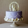 Cake Topper Friday:  White Chocolate Bride and Groom Cake Topper