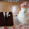 For the Guys: Bride and Groom Cakes