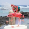 Cake Topper Friday:  Flamingo Bride and Groom