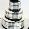 Black and Ivory Plaid Cake