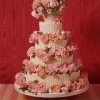 Basket of Roses Wedding Cake