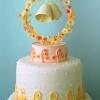 Whimsical Wedding Bells Cake Topper
