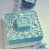 Royal Icing Monogram Wedding Cake