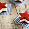 Red, White, and Blue Wedding Ice Cream Sandwiches