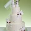 Snowman Couple Wedding Cake