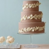 White Chocolate Leaves Wedding Cake