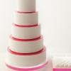 Modern Stenciled Wedding Cake