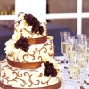 Chocolate Scrollwork Wedding Cake
