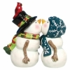 Kissing Snow People Wedding Cake Topper