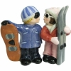 Snowboarder and Skier Wedding Cake Topper