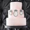 Pink Cameo Wedding Cake