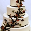 Wedding Cake with Leaves and Berries