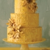 Yellow Wedding Cake with Sunflowers