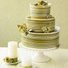 Striped Green Wedding Cake
