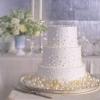 Wedding Cake with Sugar Bubbles