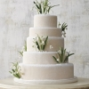 White Wedding Cake with Snowdrops