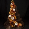 Chocolate Wedding Cake with Sugar Flowers