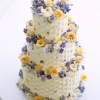 Wedding Cake with Crystallized Flowers