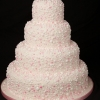 Pink Dots Wedding Cake