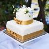 Ribbon Wrapped Wedding Cake