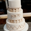 Wedding Cake with Sand Dollars