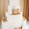 Beach-inspired White Wedding Cake