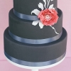 Wedding Cake with Black Fondant