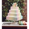 Wedding Cake with Rainbow Dots
