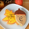 Fun Wedding Favors – Leaf and Acorn Cookies