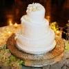 Titled White Wedding Cake