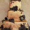 Orange Wedding Cake with Chocolate Flowers